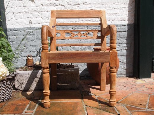 Teak station gardenchair 1-seater - Picture 4