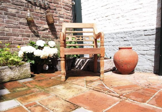 Teak station gardenchair 1-seater - Picture 5