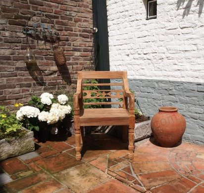 Teak station gardenchair 1-seater - Picture 1