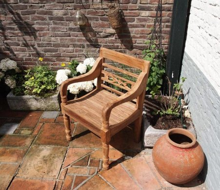 Teak station gardenchair 1-seater - Picture 0