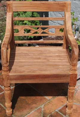 Teak station gardenchair 1-seater - Picture 3