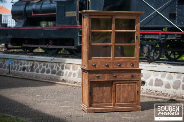Teak display cabinet 130 dingklik - Picture 0