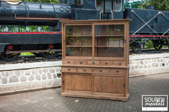 Teak display cabinet 200 dingklik - Picture 0