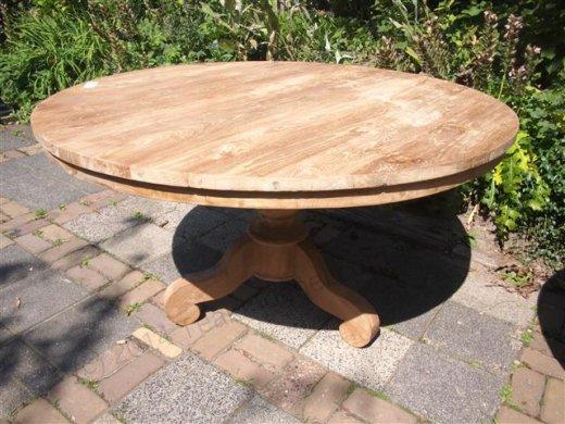 Round teak table Ø 130 cm - Picture 2