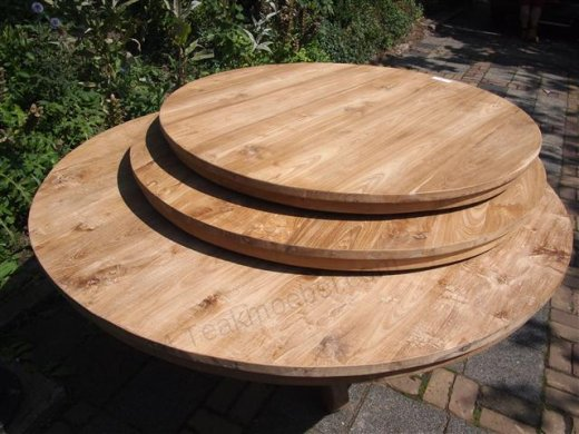 Round teak table Ø 170 cm - Picture 5