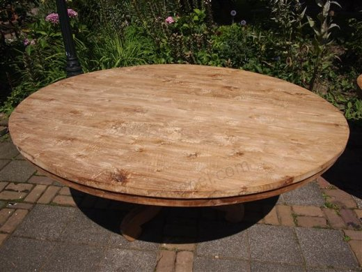 Round teak table Ø 170 cm - Picture 2