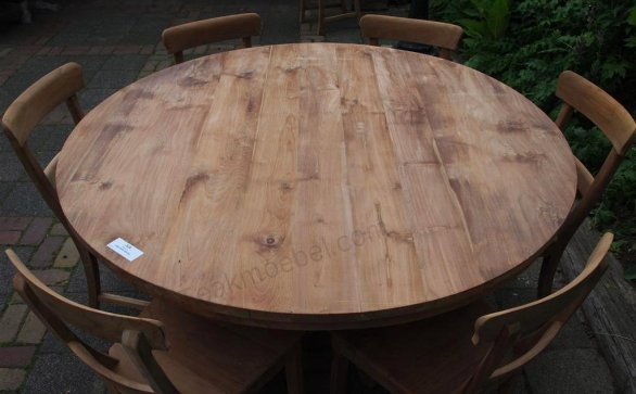Round teak table Ø 150 cm - Picture 1