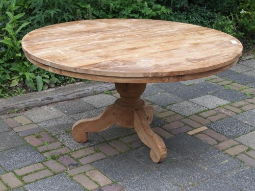 Round teak table Ø 150 cm - Picture 0