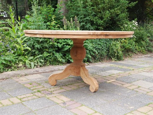 Round teak table Ø 150 cm - Picture 5