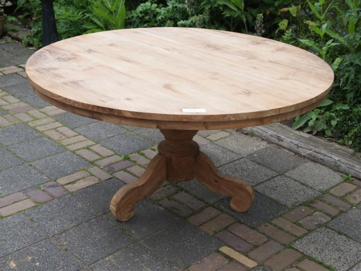Round teak table Ø 150 cm - Picture 11