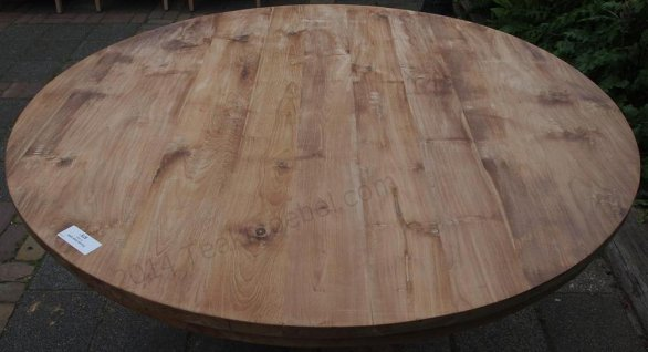 Round teak table Ø 150 cm - Picture 12