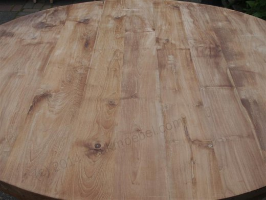 Round teak table Ø 150 cm - Picture 2