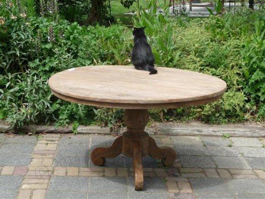 Round teak table Ø 140 cm reclaimed - Picture 0
