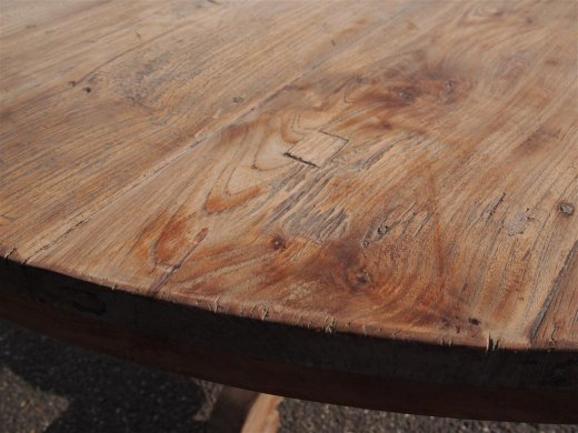 Round teak table Ø 150 cm reclaimed - Picture 3