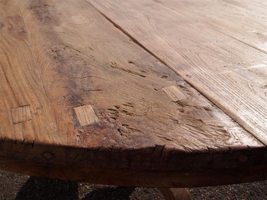 Round teak table Ø 150 cm reclaimed - Picture 4
