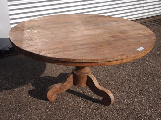 Round teak table Ø 150 cm reclaimed - Picture 9