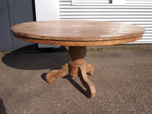 Round teak table Ø 150 cm reclaimed - Picture 0