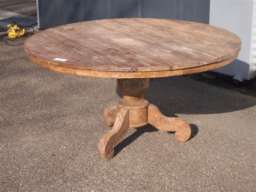 Round teak table Ø 150 cm reclaimed - Picture 7