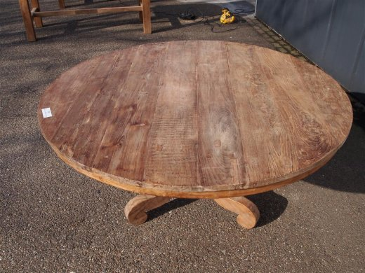 Round teak table Ø 150 cm reclaimed - Picture 8