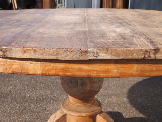 Round teak table Ø 150 cm reclaimed - Picture 6