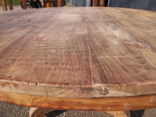 Round teak table Ø 150 cm reclaimed - Picture 2
