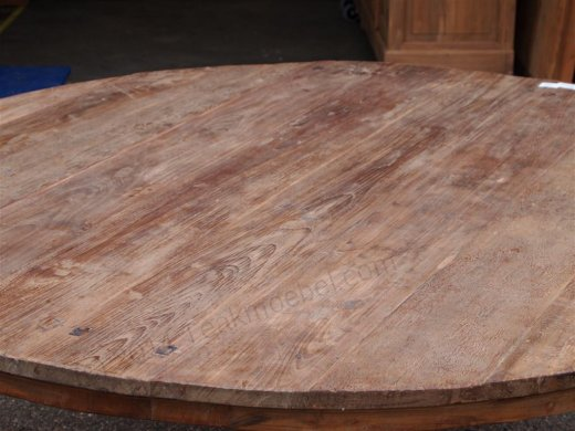 Round teak table Ø 180 cm reclaimed - Picture 1