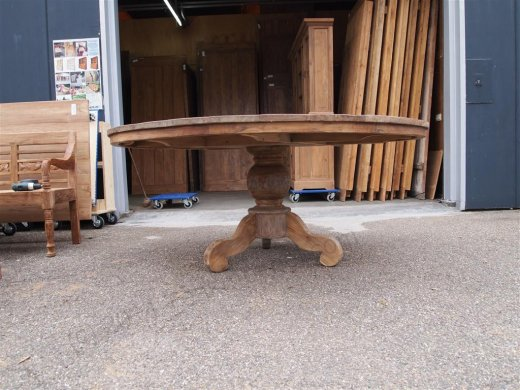 Round teak table Ø 180 cm reclaimed - Picture 2
