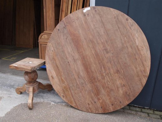 Round teak table Ø 180 cm reclaimed - Picture 8