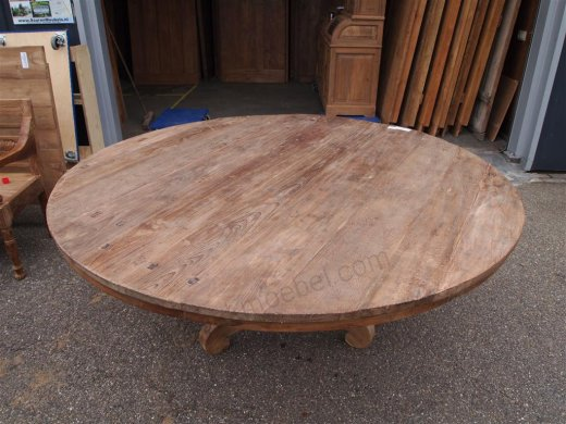 Round teak table Ø 180 cm reclaimed - Picture 7