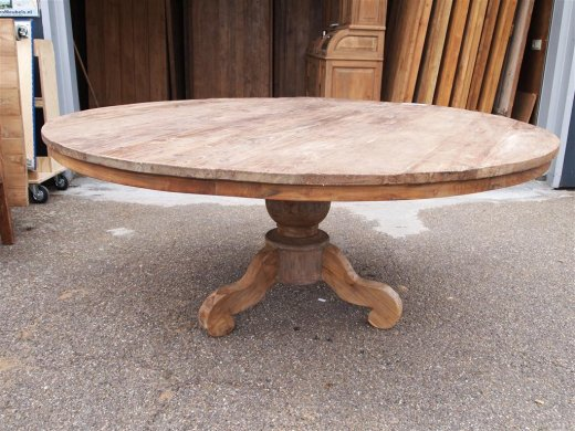 Round teak table Ø 180 cm reclaimed - Picture 0