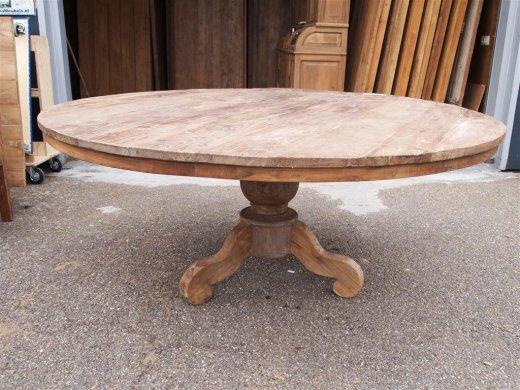 Couchtisch Holz Rund Oval ~ Round teak table Ø 180 cm reclaimed  Reclaimed Teak Furniture