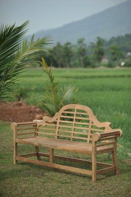 Teak garden bench Luytjens - Picture 5