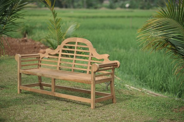 Teak garden bench Luytjens - Picture 4
