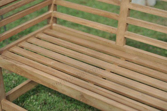 Teak garden bench Luytjens - Picture 6
