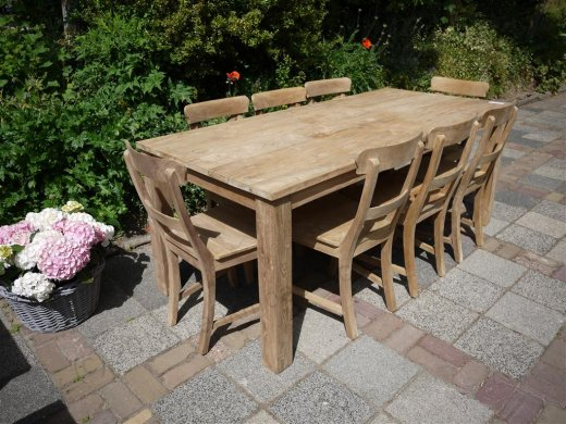 Teak table 200 x 100 cm - Picture 18