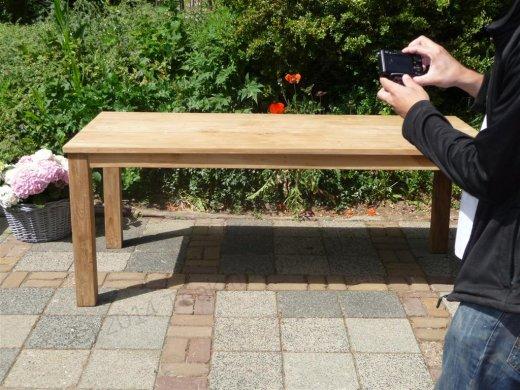 Teak table 200 x 100 cm - Picture 15