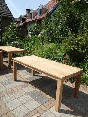 Teak table 200 x 100 cm - Picture 13