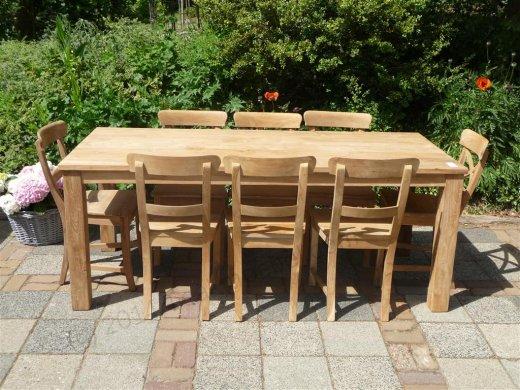 Teak table 200 x 100 cm - Picture 11