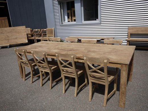Teak table 260 x 100 cm - Picture 6