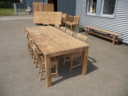 Teak table 260 x 100 cm - Picture 4