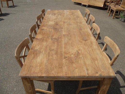 Teak table 260 x 100 cm - Picture 2