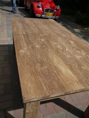Teak dining table 180 x 90 old brushed - Picture 3