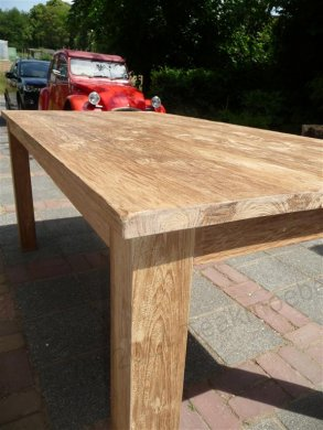 Teak dining table 180 x 90 old brushed - Picture 2