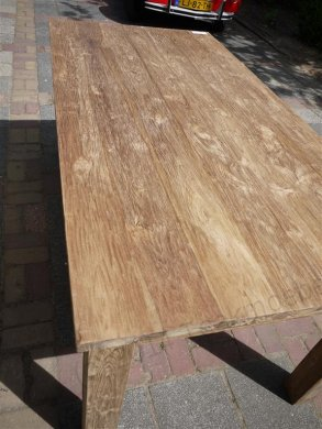 Teak dining table 180 x 90 old brushed - Picture 6