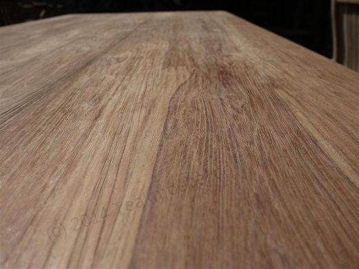 Teak dining table 180 x 90 old brushed - Picture 7