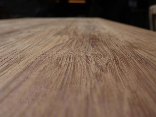 Teak dining table 180 x 90 old brushed - Picture 4