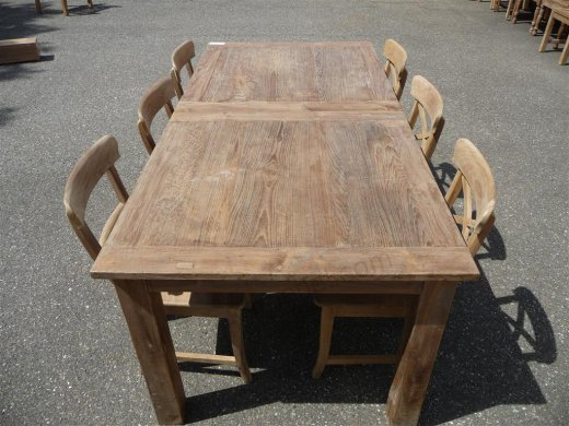 Teak table  200 - 250 - 300 x 100 cm reclaimed - Picture 5