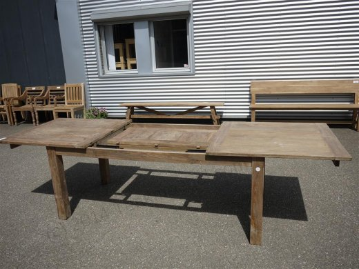 Teak table  200 - 250 - 300 x 100 cm reclaimed - Picture 7