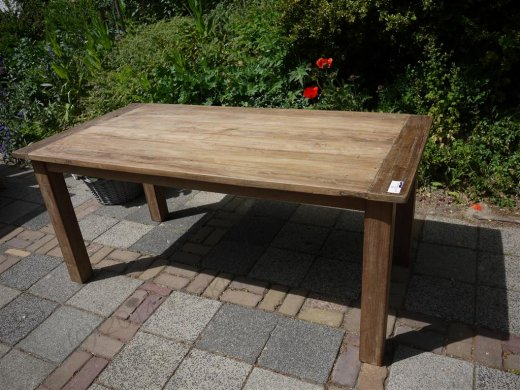 Teak table 180 x 90 cm reclaimed - Picture 6