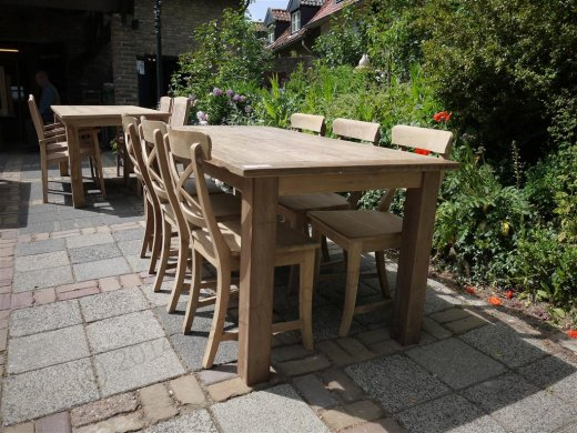 Teak table 180 x 90 cm reclaimed - Picture 4